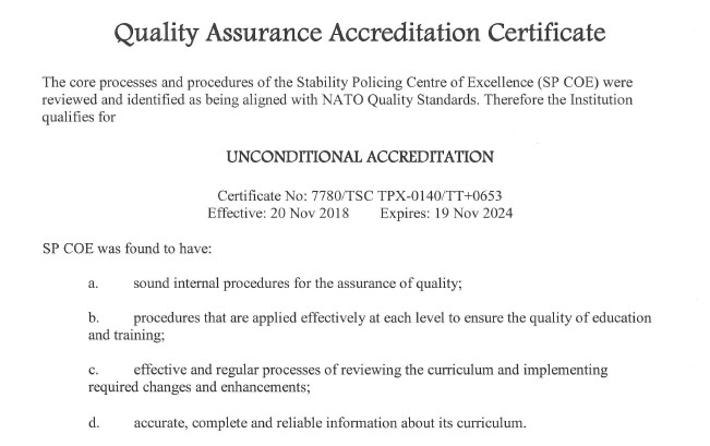 Quality Assurance Policy